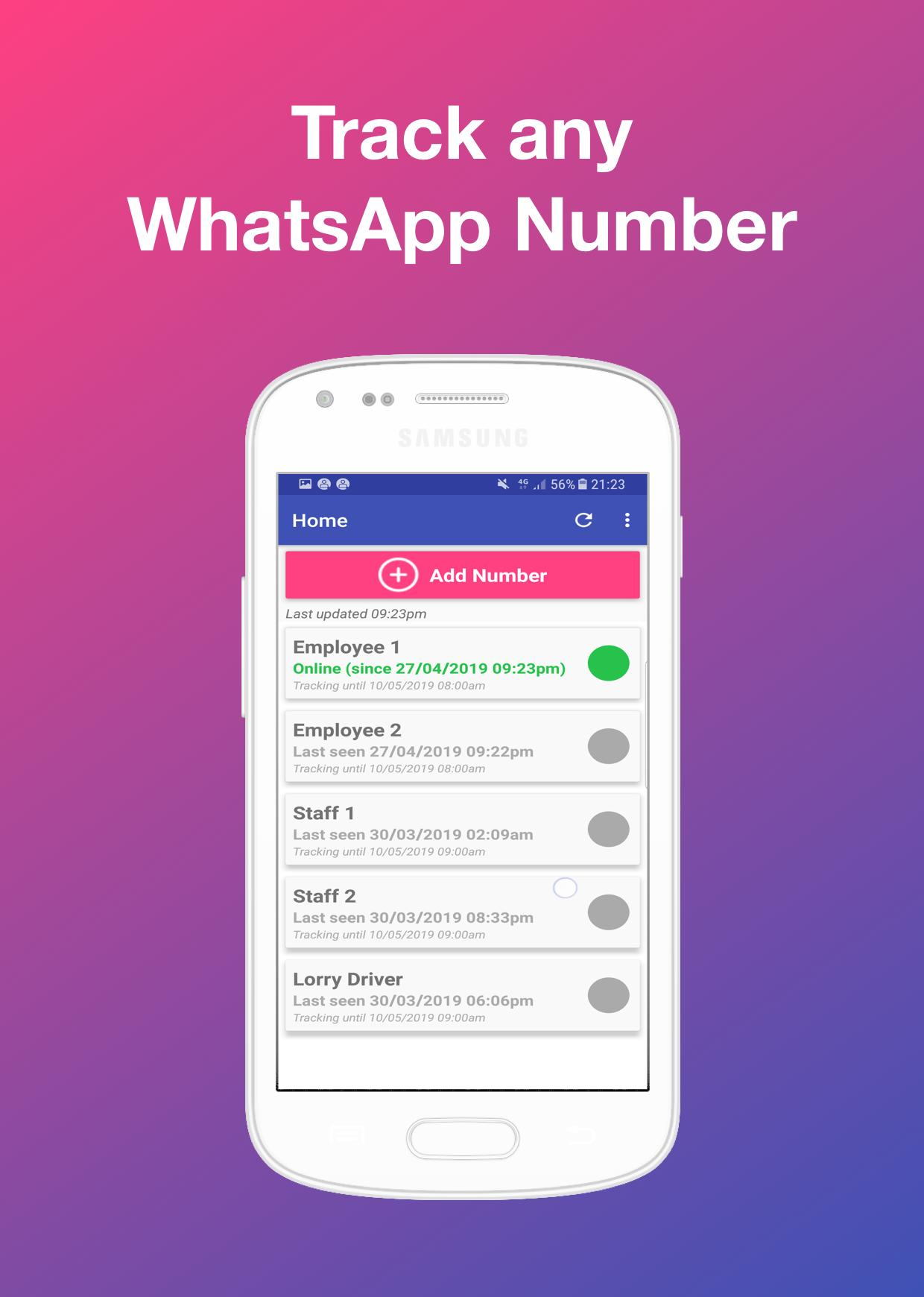 W Online Log and Notifier - Last Seen, Online Time for Android - APK