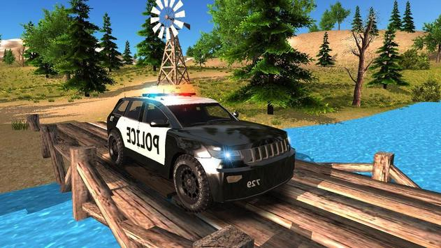 Police Car Offroad Driving poster