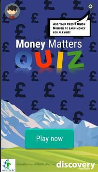 Money Matters Quiz poster