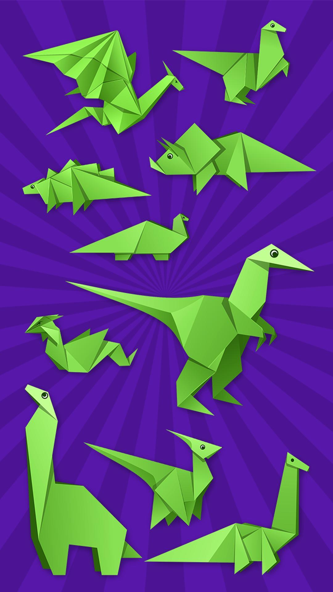 Origami Dinosaur Stock Illustrations – 189 Origami Dinosaur Stock ... | 1920x1080