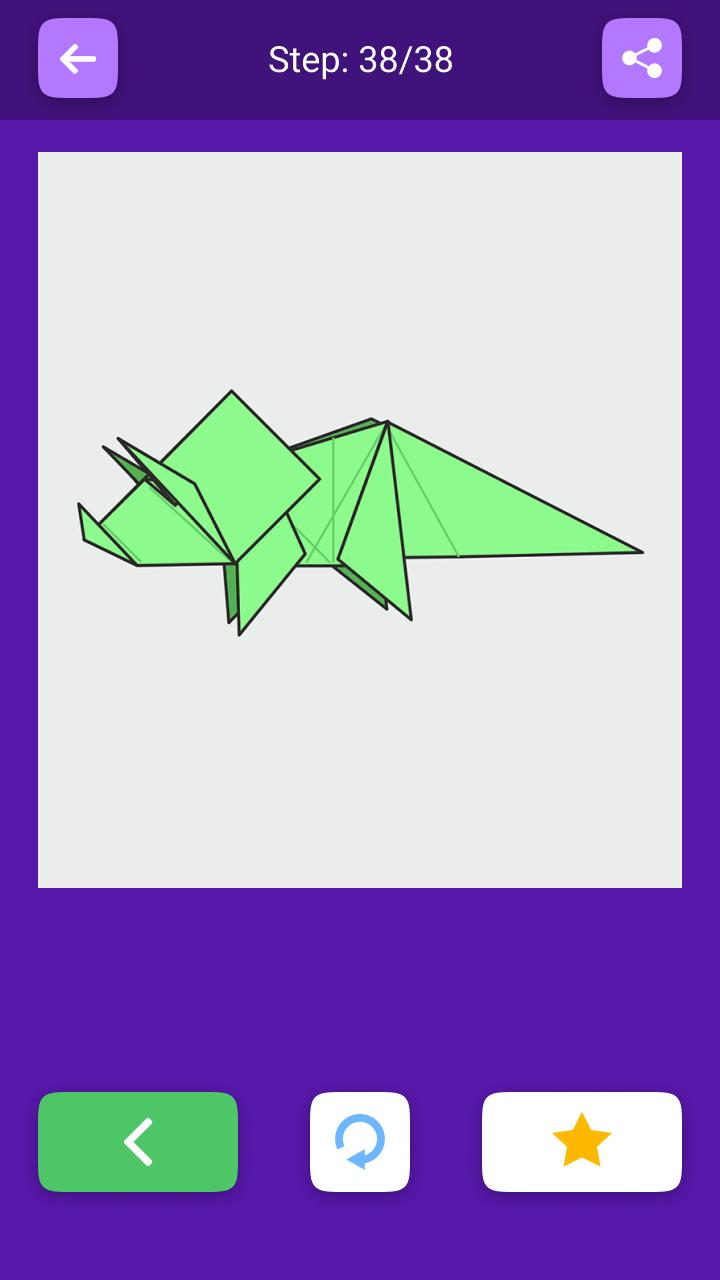 TRICERATOPS TUTORIAL   EASY DINOSAUR ORIGAMI   Origami easy ...   1280x720