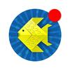 Origami cá và động vật thủy sinh giấy biểu tượng