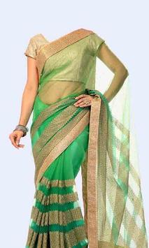 Women Transparent Saree Photo Suit poster