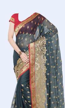 Women Transparent Saree Photo Suit screenshot 2