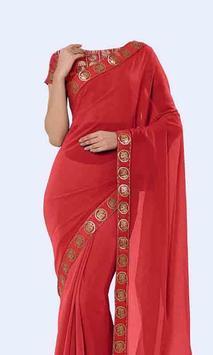Women Transparent Saree Photo Suit screenshot 3