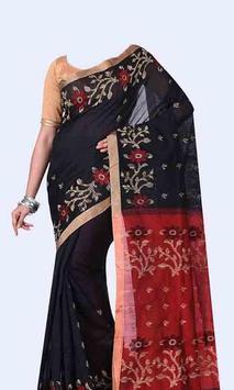 Women Transparent Saree Photo Suit screenshot 4