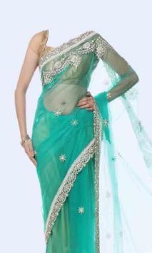 Women Transparent Saree Photo Suit screenshot 6