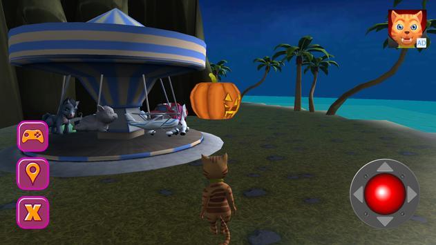 Halloween Cat Theme Park 3D screenshot 11
