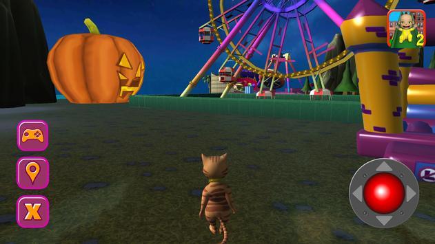 Halloween Cat Theme Park 3D screenshot 16