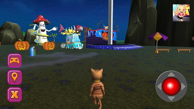 Halloween Cat Theme Park 3D screenshot 1
