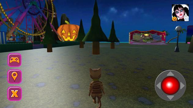 Halloween Cat Theme Park 3D screenshot 21