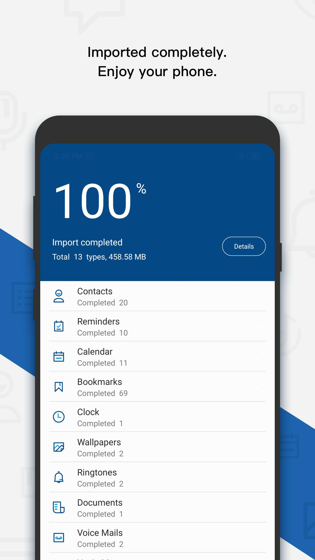 dr fone - Switch iOS/iCloud contents to Android for Android - APK
