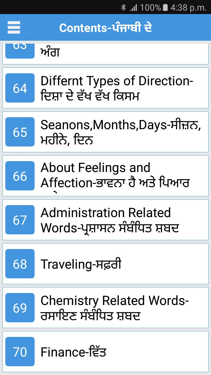 Daily Words English to Punjabi for Android - APK Download