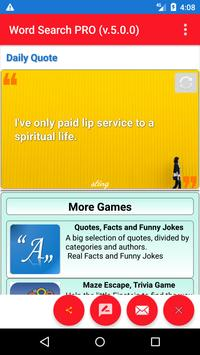 Word Find Puzzles,Word search puzzles with quotes screenshot 2