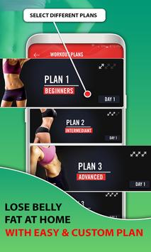 15 Days Belly Fat Workout App poster