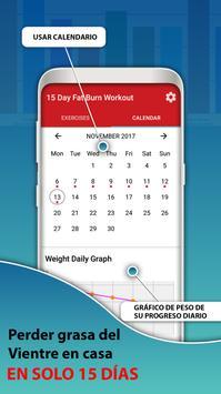 15 días Vientre Gordo Workout captura de pantalla 5