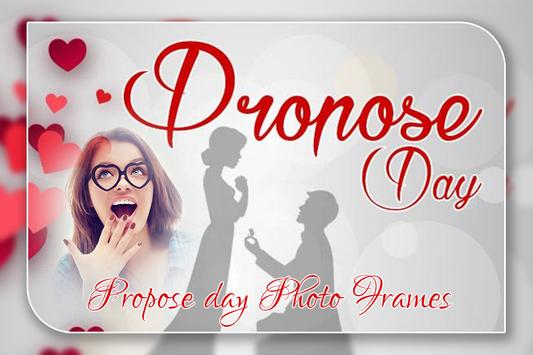 Propose Photo Frame poster