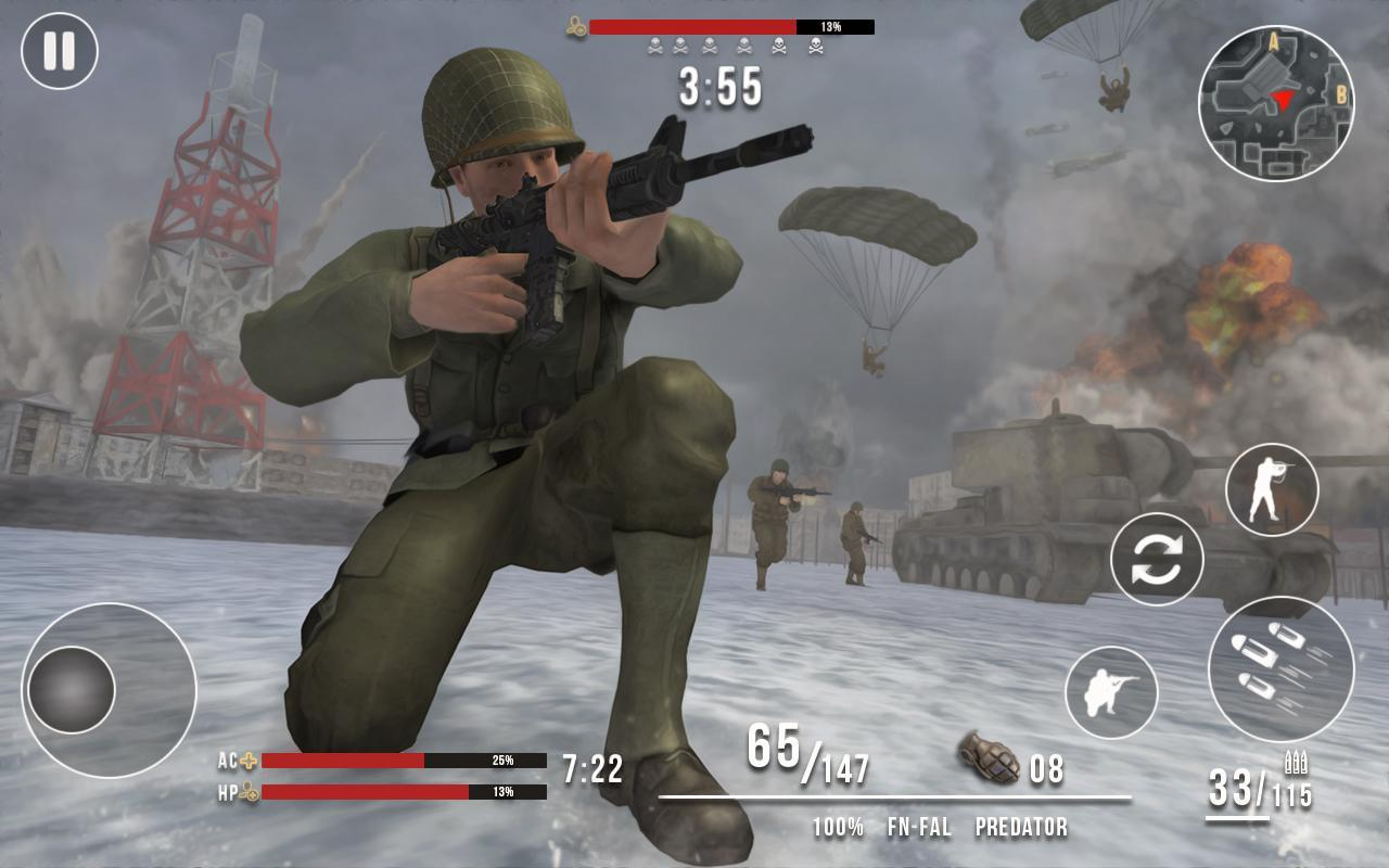 World War Winter Heroes - WW2 Free Shooting Games for