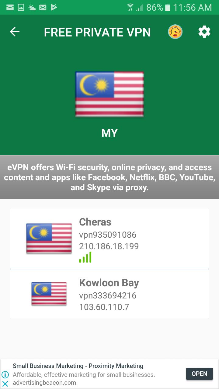Malaysia VPN Free - Unlimited Free VPN Proxy for Android