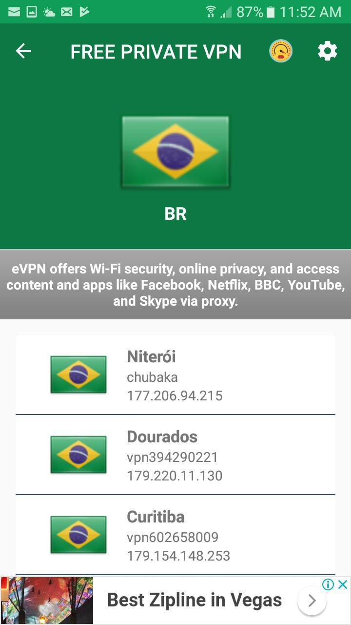 Free VPN - Brazil VPN Unlimited Security Proxy VPN for