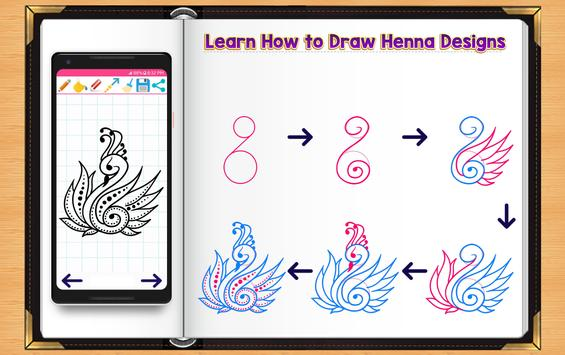 Learn How to Draw Henna Tattoo Designs poster