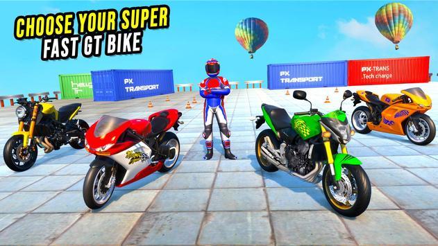 GT Bike Stunt Racing : Mega Ramp Impossible Stunts screenshot 8