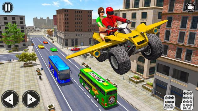 Flying ATV Bike Taxi Simulator: Flying Bike Games poster