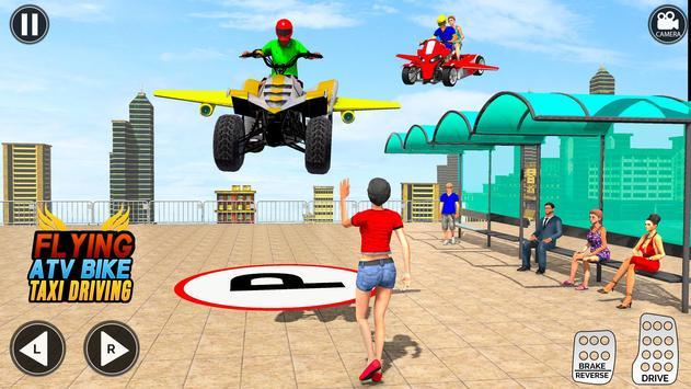 Flying ATV Bike Taxi Simulator: Flying Bike Games screenshot 10