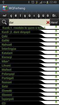 Kurdish Dictionary - WQFerheng screenshot 4