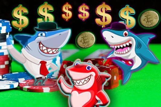 shark fruit casino slots machines poster