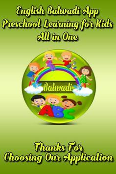 English Balwadi poster