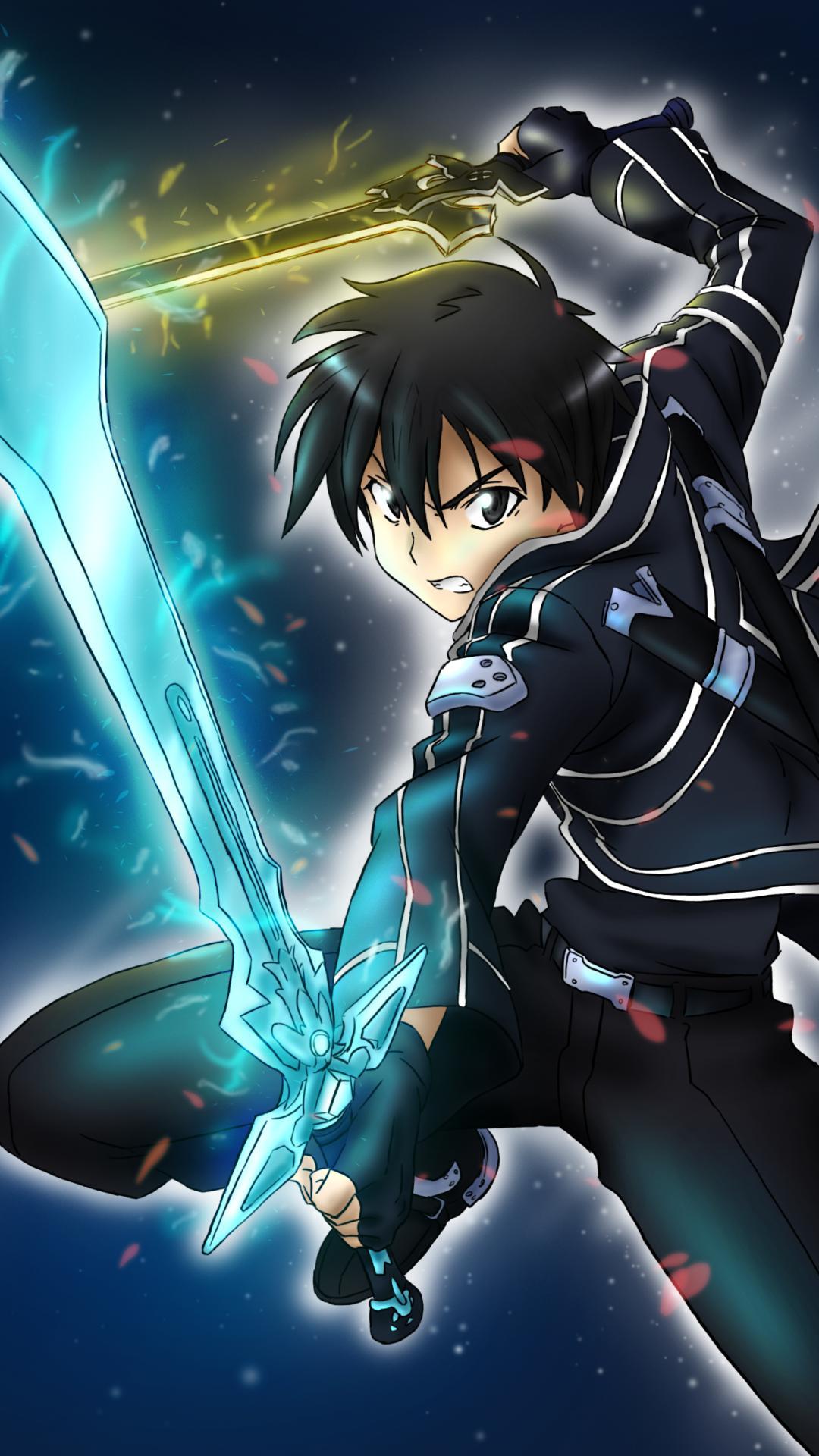 Sword Art Online Kirito And Asuna Wallpaper для андроид