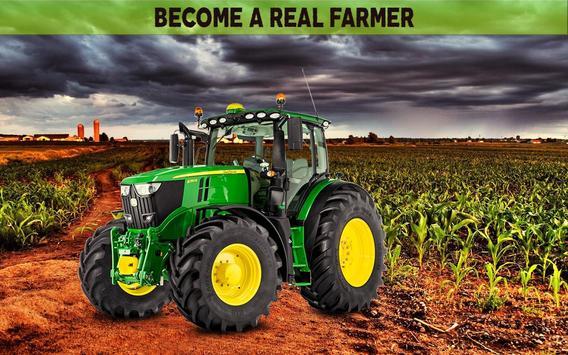 Farming Simulator 19- Real Tractor Farming game पोस्टर