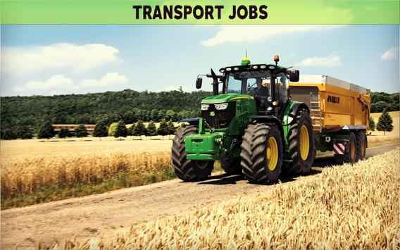 Farming Simulator 19- Real Tractor Farming game स्क्रीनशॉट 14