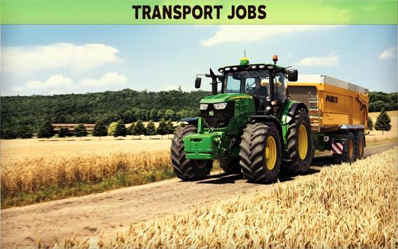 Farming Simulator 19- Real Tractor Farming game स्क्रीनशॉट 22