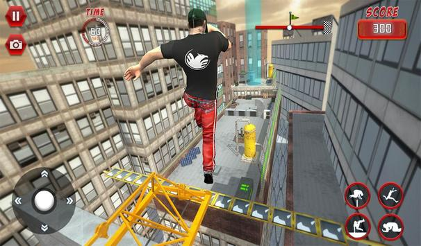 Rooftop Parkour Simulator: Run, Flip & Roll screenshot 8