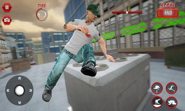 Rooftop Parkour Simulator: Run, Flip & Roll screenshot 1