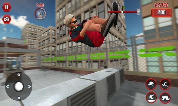 Rooftop Parkour Simulator: Run, Flip & Roll screenshot 2