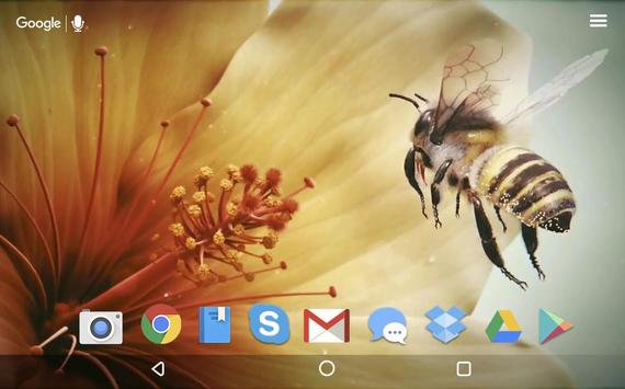 Bee and Flower Live Wallpaper screenshot 3