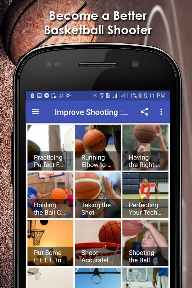 Improve Shooting : Basketball poster