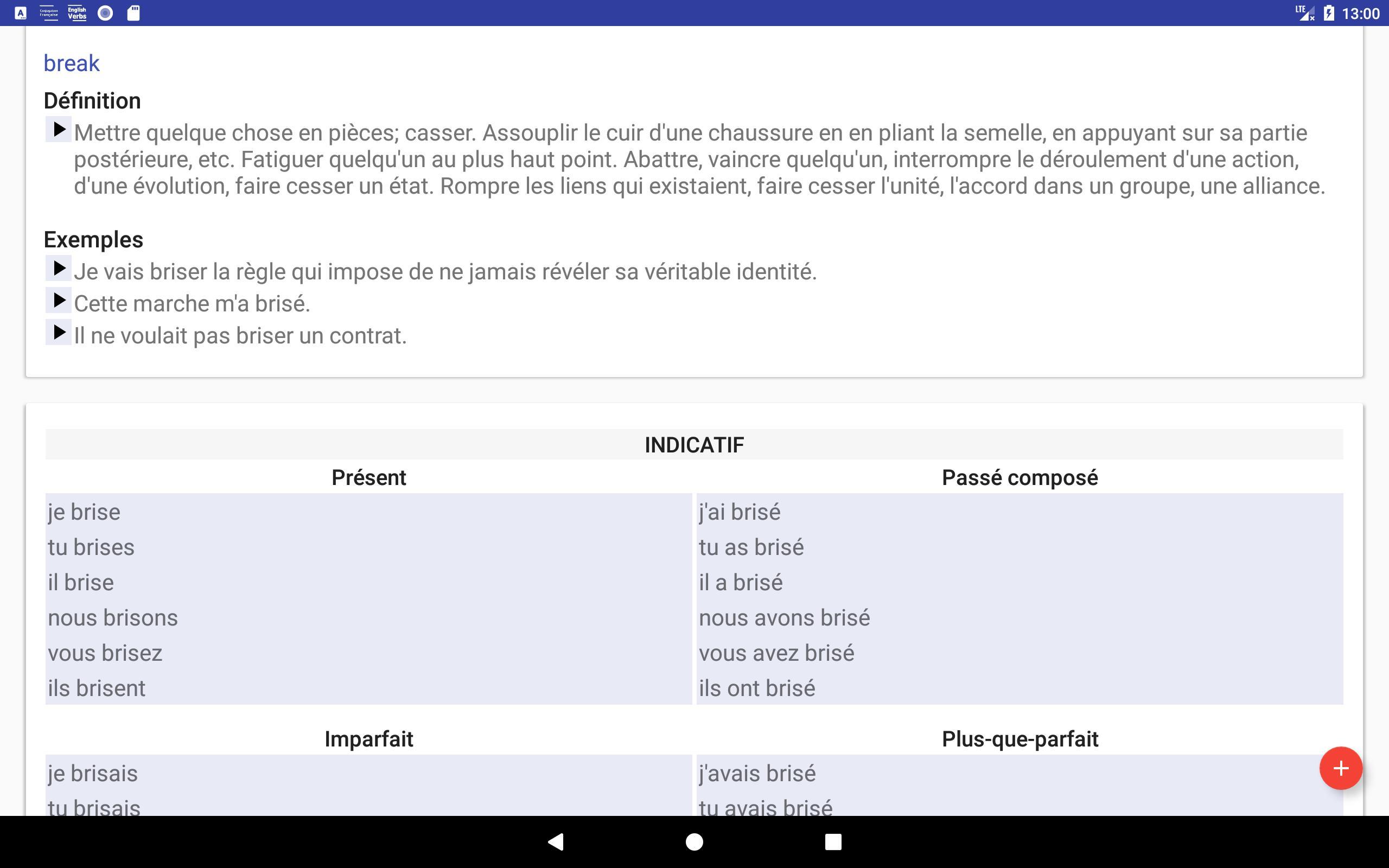 Conjugaison Francaise Pour Android Telechargez L Apk