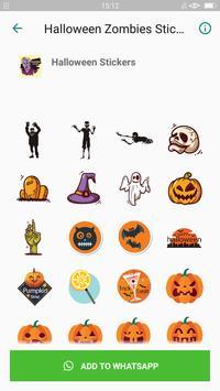Halloween Emoji Sticker - Zombie Sticker screenshot 3