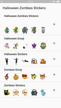 Halloween Emoji Sticker - Zombie Sticker poster