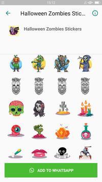 Halloween Emoji Sticker - Zombie Sticker screenshot 1