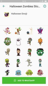 Halloween Emoji Sticker - Zombie Sticker screenshot 2