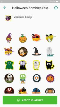 Halloween Emoji Sticker - Zombie Sticker screenshot 4