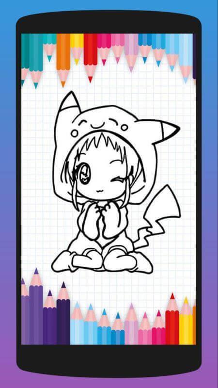 Dibujos De Chicas Animé Para Colorear For Android Apk Download