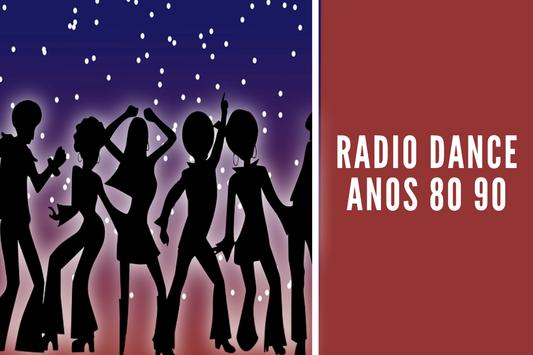 radio dance anos 80 90 poster