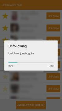 Unfollow Users Screenshot 2