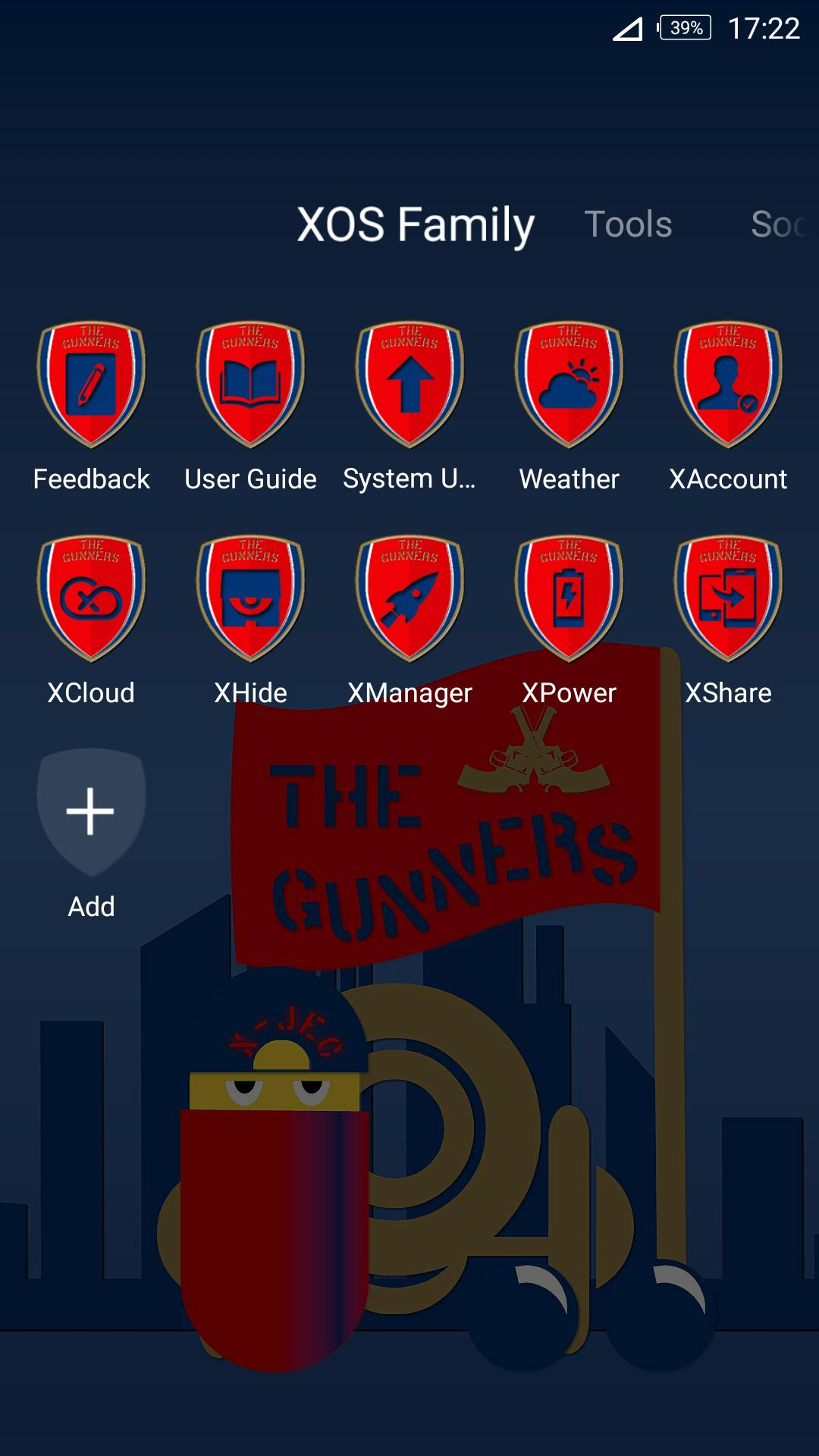 Theme for Infinix - XOS Launcher : Gunners Themes for